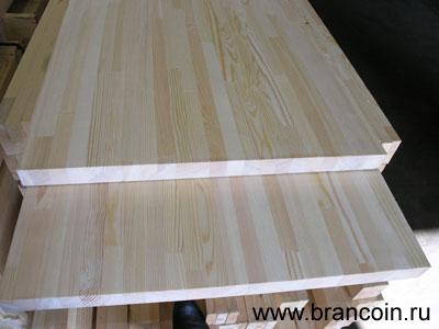 Мебельный щит из лиственницы 18мм, сорт - Экстра